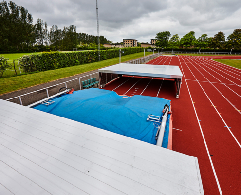 Sicherheitsabdeckung für den Ballerup Athletics Club